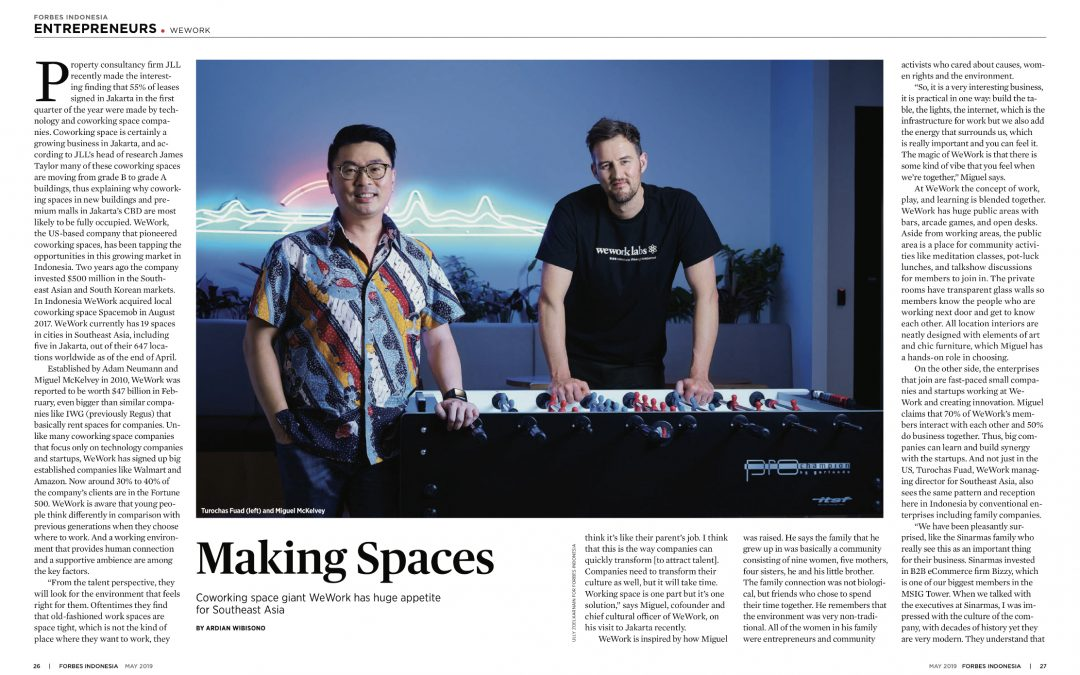 Making Spaces: WeWork in Southeast Asia