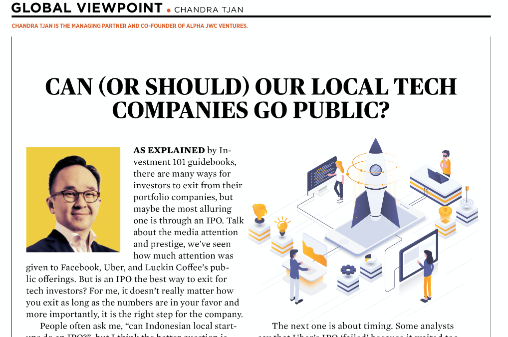 Can (or should) Our Local Tech Companies Go Public?